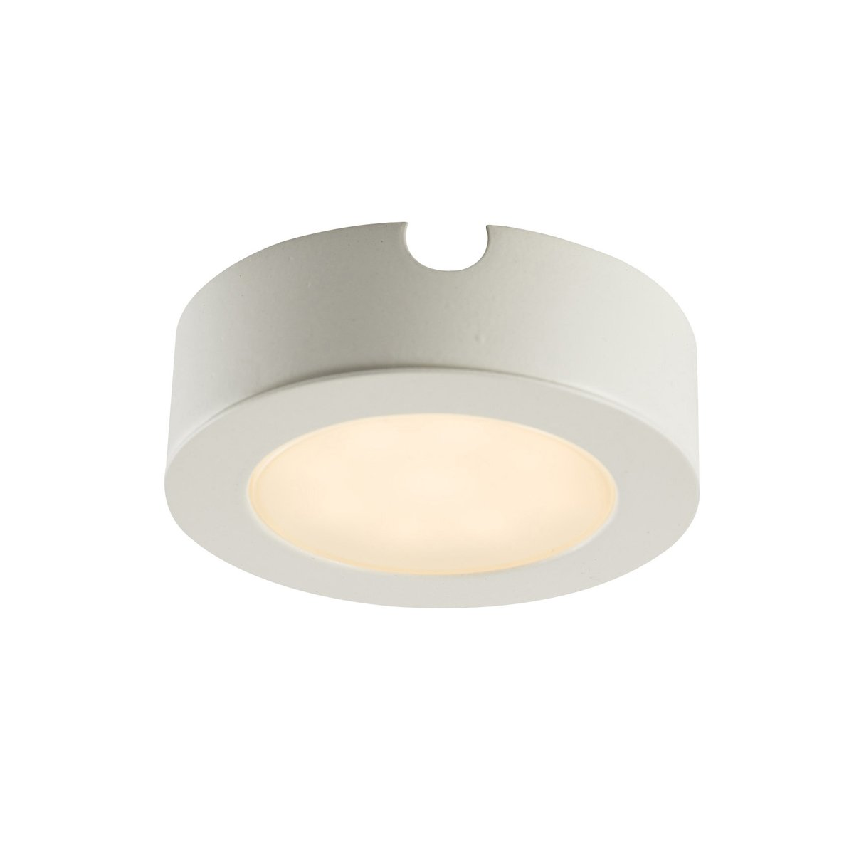 Additional Head - Round Design LED Kitchen/Under Cabinet Light in a Satin Nickel Finish [3000K Warm White] [Energy Class A++] National Lighting