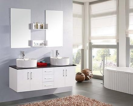 Mobile bagno LION arredo bagno arredobagno 150 cm bianco laccato ...