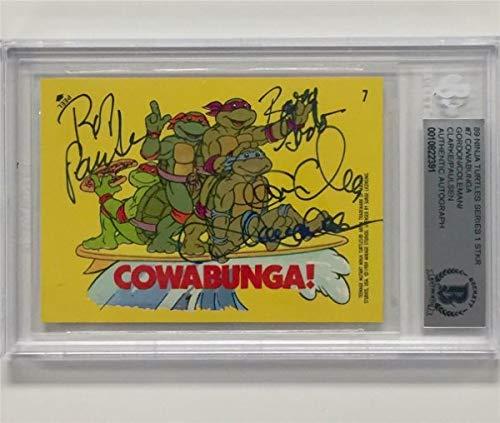 Tmnt Teenage Mutant Ninja Turtles 4 Cast Autographed Signed ...