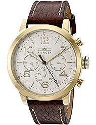 Tommy Hilfiger Mens 1791231 Jake Analog Display Japanese Quartz Brown Watch
