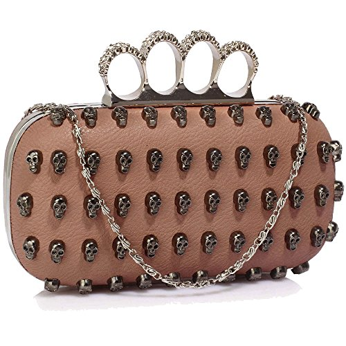 Gorgeous Nude Women's Knuckle Rings Evening Bag | FREE UK DELIVERY | SAVE 50%