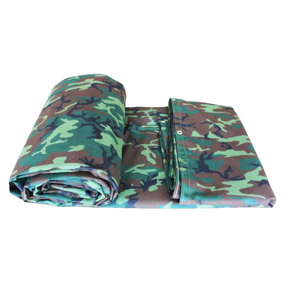 DALL ターポリン 防雨布 厚い タープ キャンバス 防水 日焼け止め トラック 車の布 シェード (色 : 緑, サイズ さいず : 5×6m) 5×6m 緑 B07KWMDZ1F