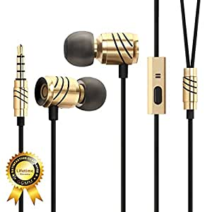 Noise Cancelling Earbuds, GGMM C800 Wired In Ear Headphones with Microphone for iPhone iPad MP3 MP4 Android