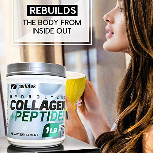 Hydrolyzed Collagen Powder Peptides Type 1 and 3 Easy to Mix High Absorption Unflavored
