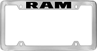 product image for Dodge Ram Metal Engraved License Plate Frame Holder (chrometwo)