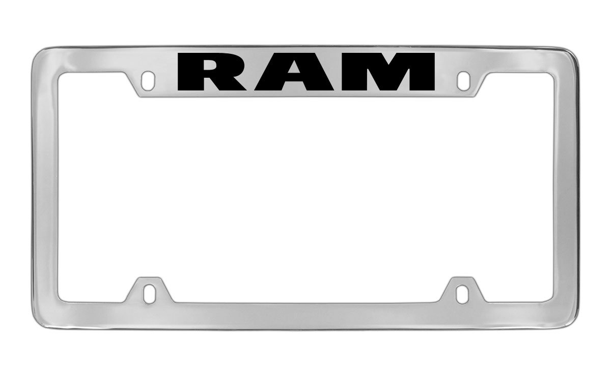 Dodge Hemi Chrome Plated Metal Top Engraved License Plate Frame Holder Baronlfi