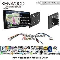 Volunteer Audio Kenwood DNX874S Double Din Radio Install Kit with GPS Navigation Apple CarPlay Android Auto Fits 2012-2013 Nissan Versa
