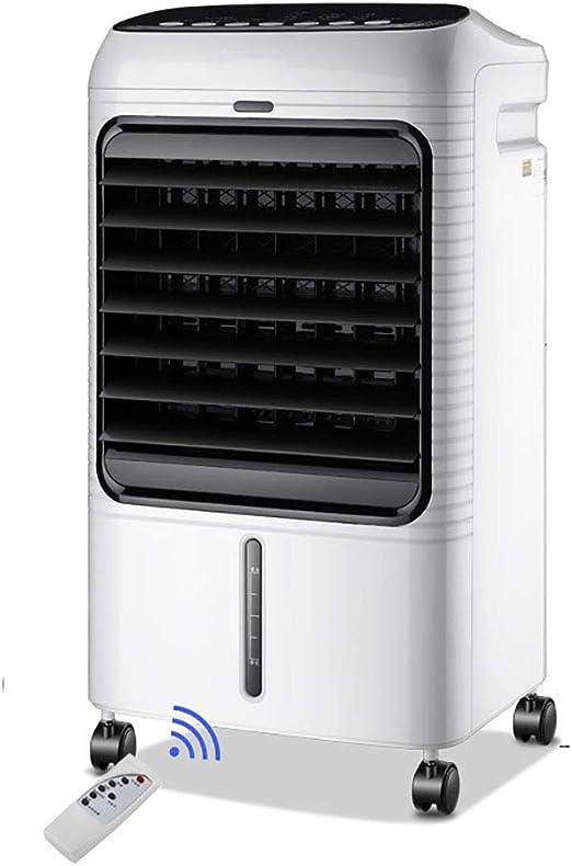 Aire Acondicionado Silencioso Control Remoto Portátil Ventilador,Frio con Agua Climatizador Evaporativo Dormitorio Sala Abierto Piso Blanco: Amazon.es: Hogar