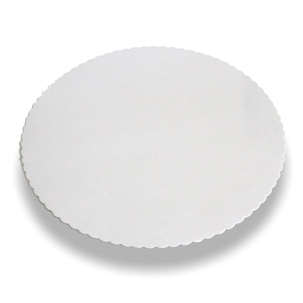 carton pure rond /Ø 28 cm blanc avec bord dentel/é Papstar 11368 100 Sous tartes