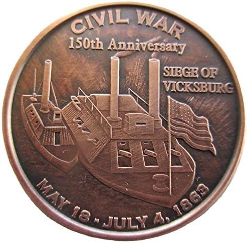 1862 MONITOR VS VIRGINIA MARCH 9 1 OZ COPPER ROUND CIVIL WAR