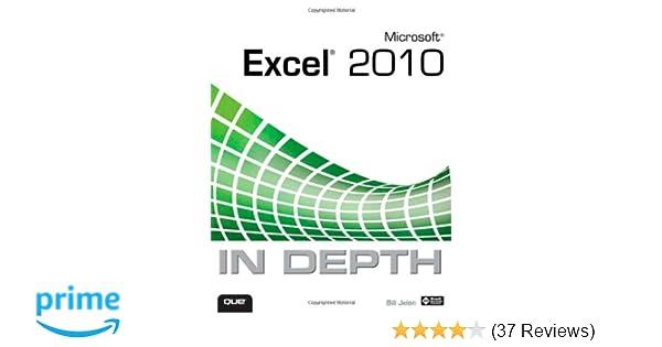 microsoft excel 2010 in depth bill jelen
