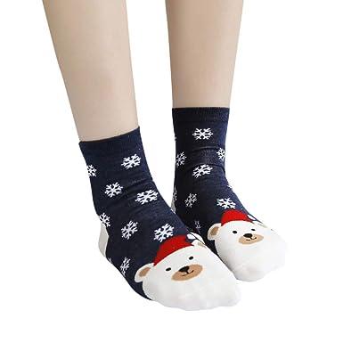 Sylar Navidad Ropa Calcetines De Mujer Calientes Calcetines Invierno Moda Lindo Estampado Animal Grueso Calcetines Cálido Suave Casual Calcetines: ...