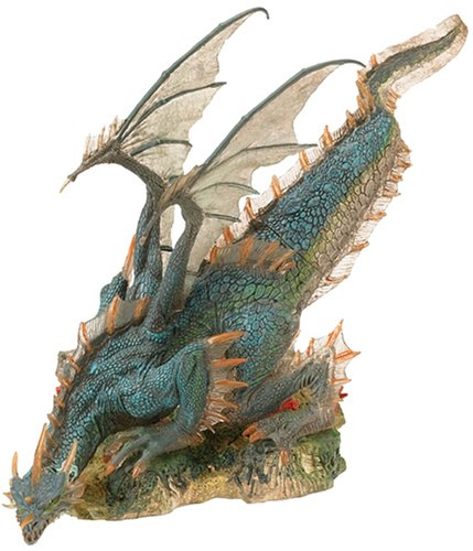 2004 - McFarlane / Spawn - McFarlane's Dragons - Rare Series 1 - Water Clan Dragon Action Figure - Quest for the Lost King Saga - Story Inside - Out of Production - Limited Edition - Collectible (Mcfarlane Toy Spawn Series 1)