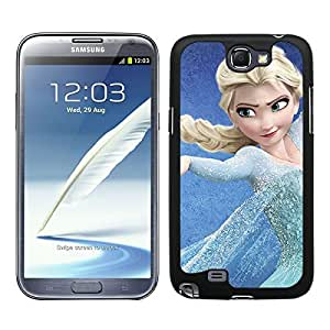FUNDA CARCASA PARA SAMSUNG GALAXY NOTE 2 FROZEN 5 BORDE NEGRO