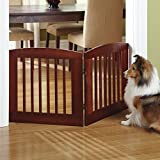 Orvis Panel Zig-zag Dog Gates / 24″ h Four-panel Gate: Covers Up To A 6′ Span, Weighs 18 1/2 Lbs, Dark Cherry Review