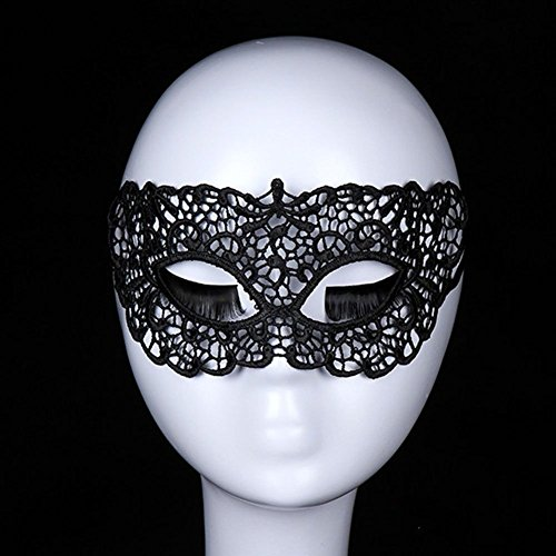 Lace Sexy Mask,Venetian Masquerade Lace Eyemask Eye Mask for Halloween Masquerade Party,Girlfriend Gift (Aria Halloween Costume 2017)
