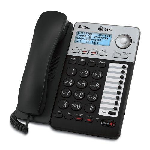 att-2-line-corded-phone-with-speakerphone-18-number-speed-dial-100-name-number-caller-id-and-phonebo