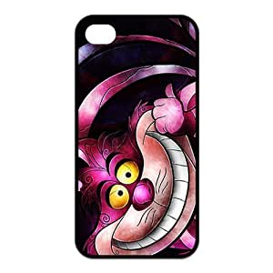 4s , For LG G2 Case CoverFashion Style New Alice in Wonderland Painted Pattern Hard Soft For LG G2 Case Cover (Black/white)