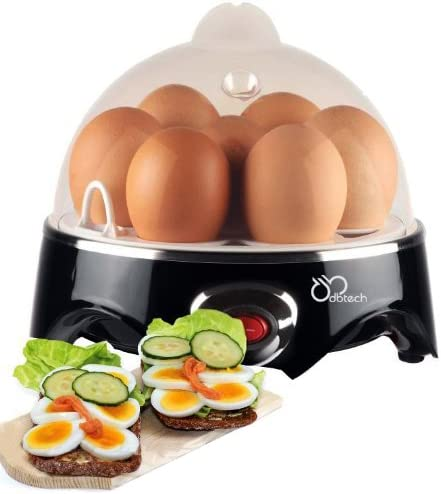 DBTech Automatic Shut-off Electric Egg Cooker, Black,