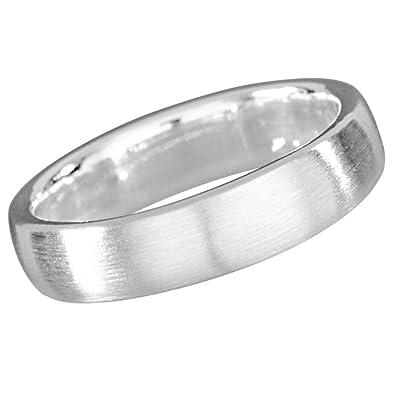 Partnerringe silber matt schlicht  Vinani Ring klassisch schlicht mattiert schmal Unisex Partnerring ...