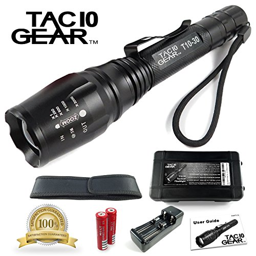 TAC10 GEAR Flashlight Rechargeable Adjustable