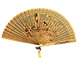 Panda Superstore Folding Hand Fan Hand Fan Hand Held Fans Folding Fans Chinese Fan Chinese Fan