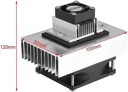 DC 12V Mini sistema de enfriamiento de semiconductores de refrigeración DIY Termo acondicionador de aire Kit de refrigeración para mascotas: Amazon.es: Bricolaje y herramientas