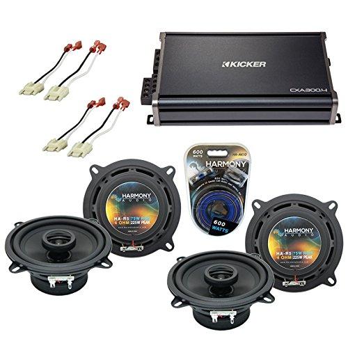 (Fits Jeep Grand Wagoneer 86-92 OEM Speaker Replacement Harmony (2) R5 & CXA300.4 Amp (Renewed))