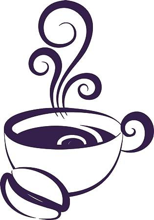GRAZDesign Wandtattoo Küche Kaffeetasse - Kreatives Geschenk für beste  Freundin Wandtattoo Tasse mit Kaffee - Wandtattoo Küche Sprüche Kaffeezeit  ...