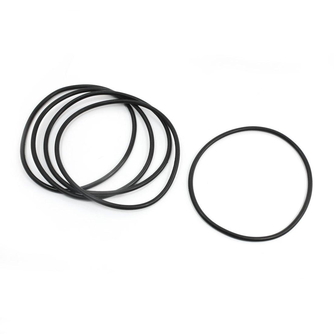 Sourcingmap a14022100ux0226-5pezzi flessibili in gomma o ring di tenuta della guarnizione rondella 135mm neri x 5mm
