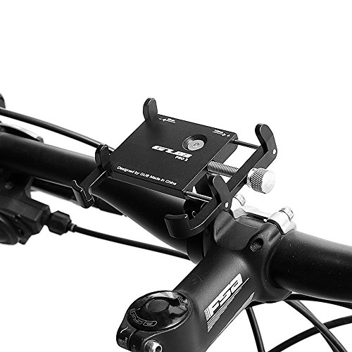 Lixada GUB Anti-slip Bicycle Adjustable Phone Holder Mount Aluminum Bike Handlebar Mobile Phone Holder Handlebar Clip Stand for 3.5-6.2inch Smart Mobile Phone (Mtb Claw)