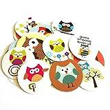 Best Kindergarten Supplies - Owl Sticker Labels - Kids Children Boy Girl Review