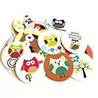Owl Sticker Labels - Kids Children Boy Girl Baby Shower Birthday Party Supplies Favors - Set of 50