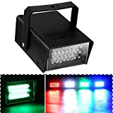Cade Mini Disco 24 LED Bulb Club Stage Lighting Mini Dj Strobe Light Flash Light for Club Dj Disco Bar Stage House Party Lighting (Green)