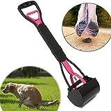 Catnew Long Handle Dog Pooper Scooper Plastic Pet Waste Clean Pickup Tool Poop Picker