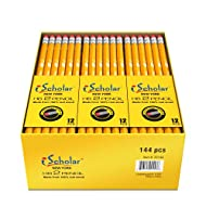 iScholar Gross Pack Pencils, #2, Yellow, Box of 144 (33144)