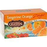 Celestial Seasonings Herbal Tea, Tangerine Orange Zinger – Pack of 2 For Sale