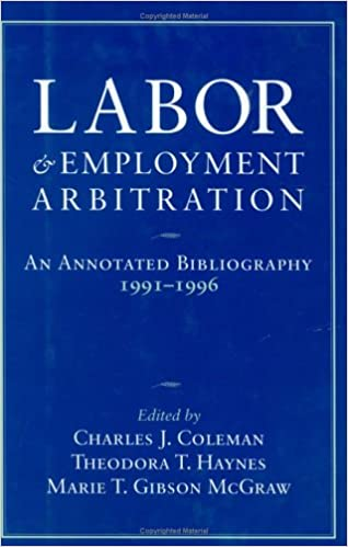 ##DOC## Labor And Employment Arbitration: An Annotated Bibliography 1991-1996 (Cornell Industrial And Labor Relations Bibliography Series). comprar Desde reduced cuando infantil PLEASE provides