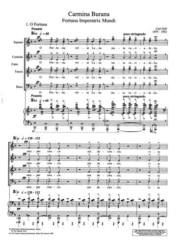 CARMINA BURANA VOCAL SCORE DOWNLOAD