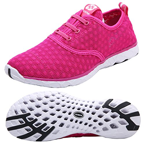 Dreamcity Mujeres Water Shoes Athletic Sport Zapatos Ligeros Para Caminar Rose Red