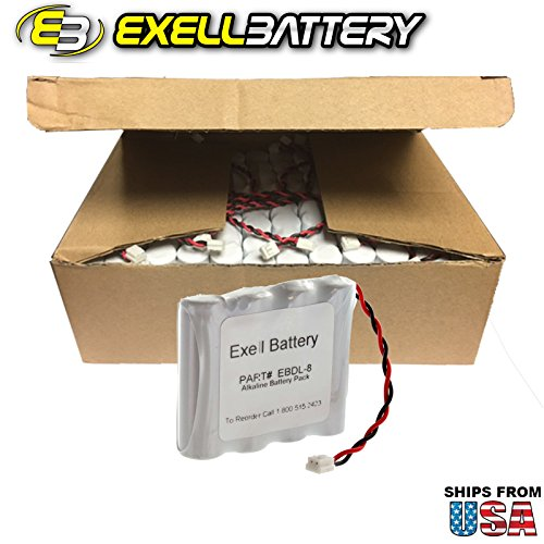72x Exell Battery Door Lock 6V 4-Cell Battery Pack Fits 884952, A28110, A28100, DL-12 / 4, HTL-11/13, Intellis, MT, CSS5200 FAST USA SHIP by Exell Battery