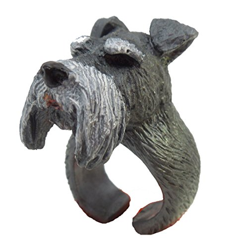 [Forin Finger Ring Accessories 3D Pet Home Schnauzer Bulldog Pug Samoyed Bull Terrier Corgi Design] (Pug Batman Costume)