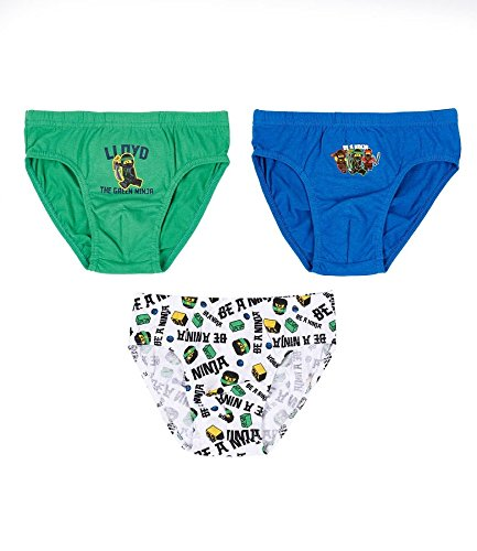 Lego Ninjago Boys 3 pack brief - green