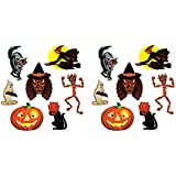 "Beistle 00429 Vintage Halloween Classic Cutouts 14 Piece, 9.5""-16"", Multicolored"