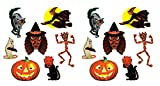 Beistle 00429 Vintage Halloween Classic Cutouts 14 Piece, 9.5'' - 16'', Multicolored