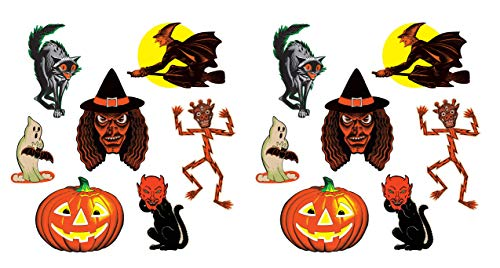 "Beistle 00429 Vintage Halloween Classic Cutouts 14 Piece, 9.5"" - 16"", Multicolor from Beistle"