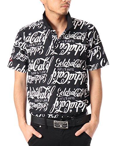(ガッチャ ゴルフ) GOTCHA GOLF ポロシャツ ドライ オールド アメリカン ポロ [吸水速乾] 182GG1202 ブラック Lサイズ