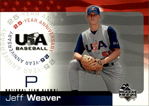 Baseball Weaver Jeff - 2004 USA Baseball 25th Anniversary #20 Jeff Weaver Baseball Card *