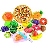 منزل لعبة قطع الفاكهة وقطع الفاكهة لعب الأطفال المطبخ لغز لعبة تعليمية مجموعة
