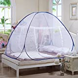 Tailbox Portable Mosquito Net - Sleep Screen Pop-Up Mosquito Net Bed Guard Tent Folding Attached Bottom with Zipper Anti-Mosquito Cloth for Babies Adult Travel Camping (120cm x 190cm)